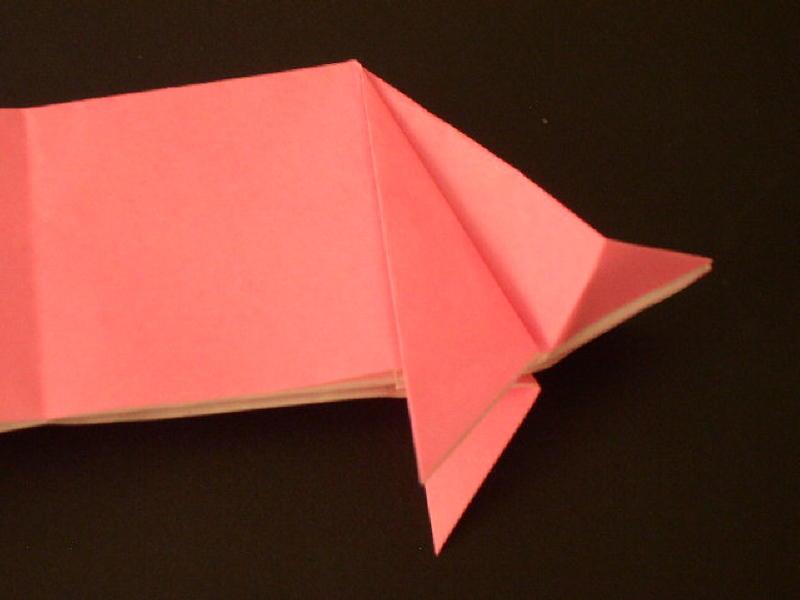 Origami Pig Photo Diagrams 20