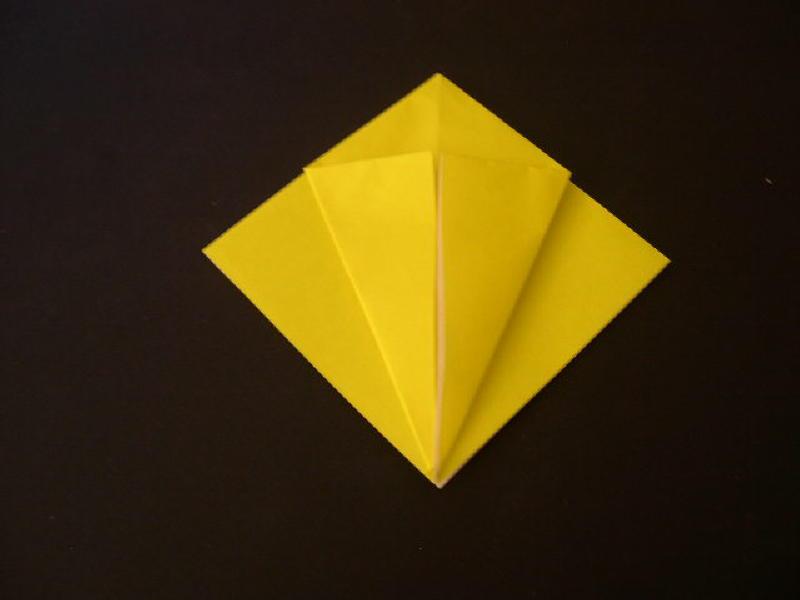 Origami  Bird  - Origami Robin - Step 7