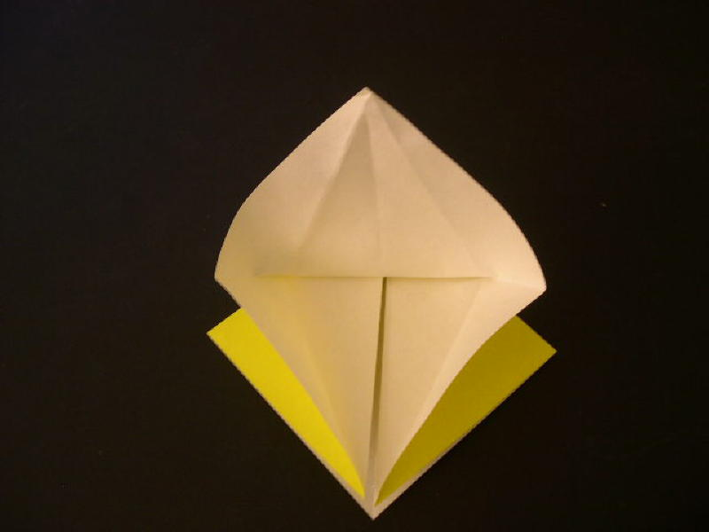 Origami  Bird  - Origami Robin - Step 8