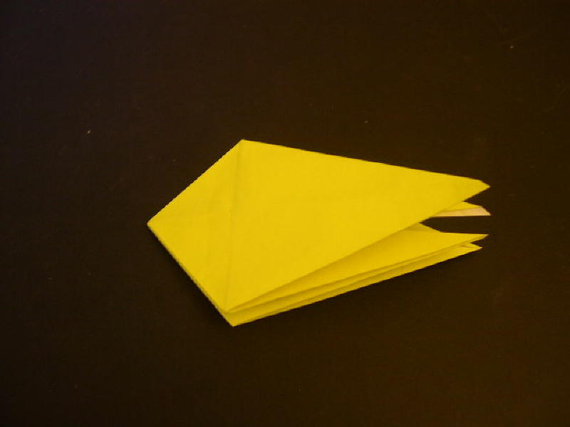 Origami  Bird  - Origami Robin - Step 12