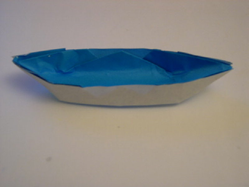 Origami Folding Instructions How To Make An Easy Origami Sampan Or