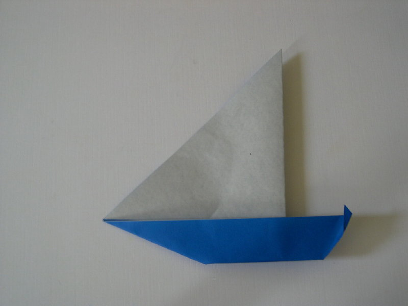 simple origami yacht